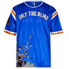 Blue Collection - Blue floral sports jersey