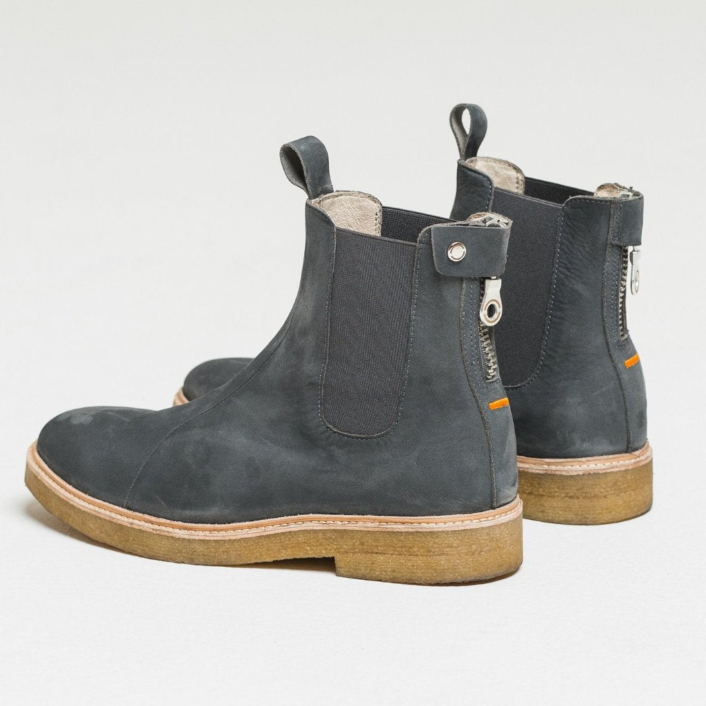Nubuck Chelsea Boot Midnight Grey by Only The Blind