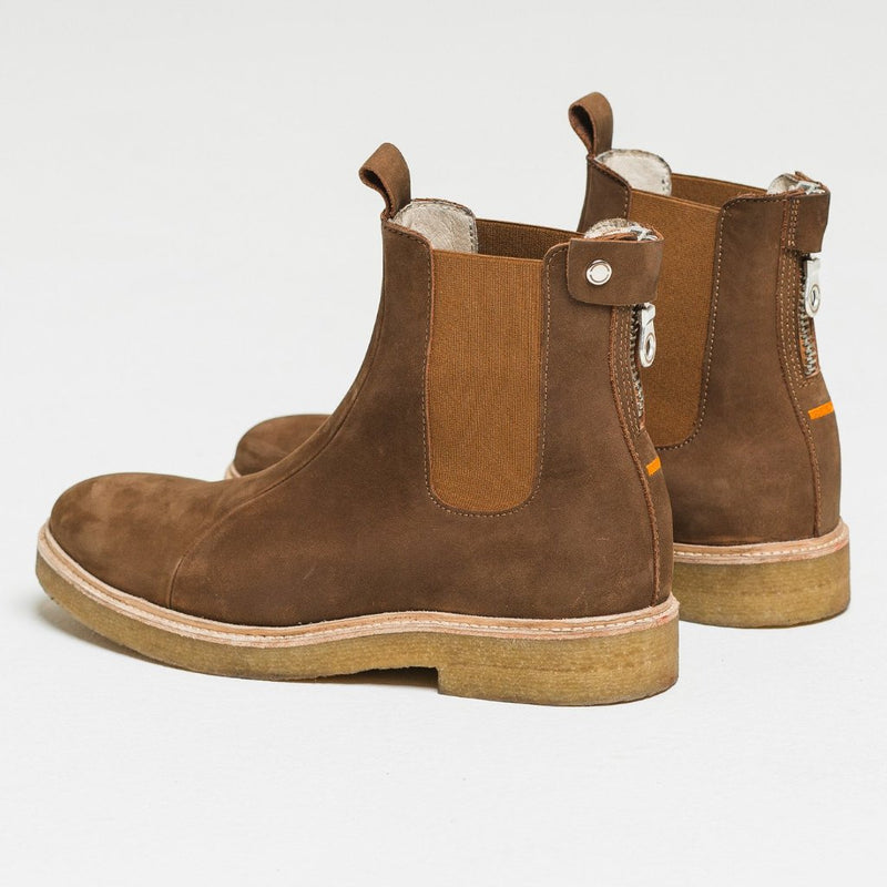 Nubuck Tobacco Chelsea Boot by Only The Blind
