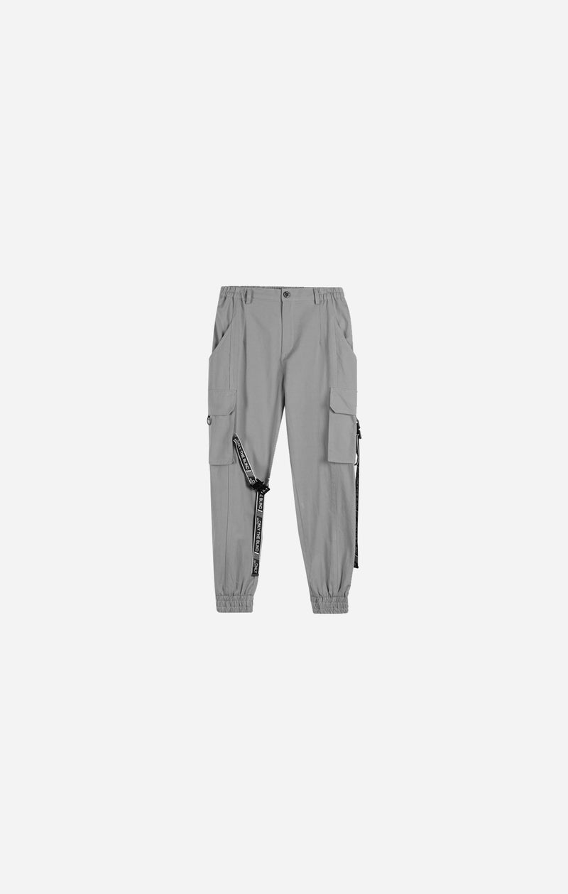 Glacier Grey Strapped Cargo Bottoms