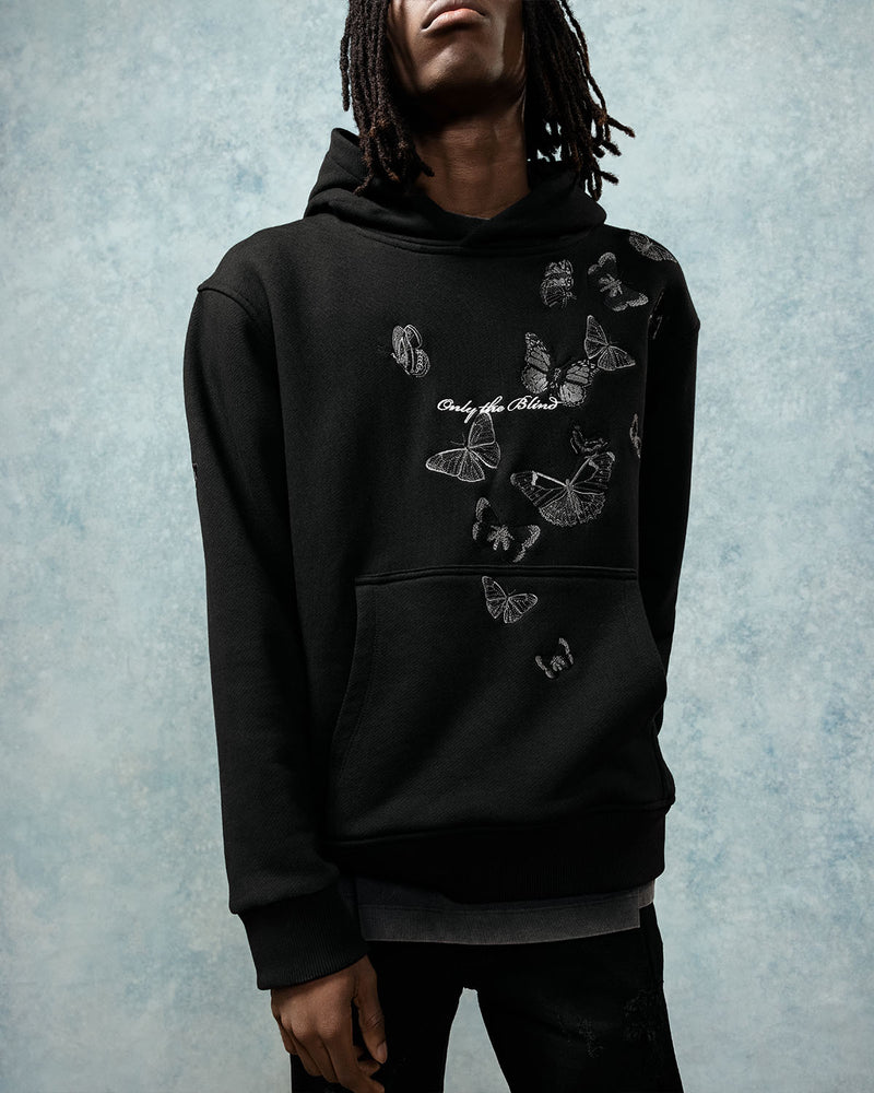 Embroidered Butterfly Hoodie