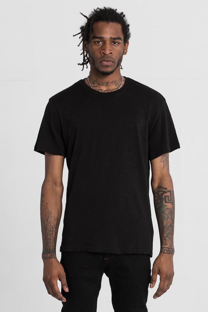 Black Slub T-Shirt by Only The Blind
