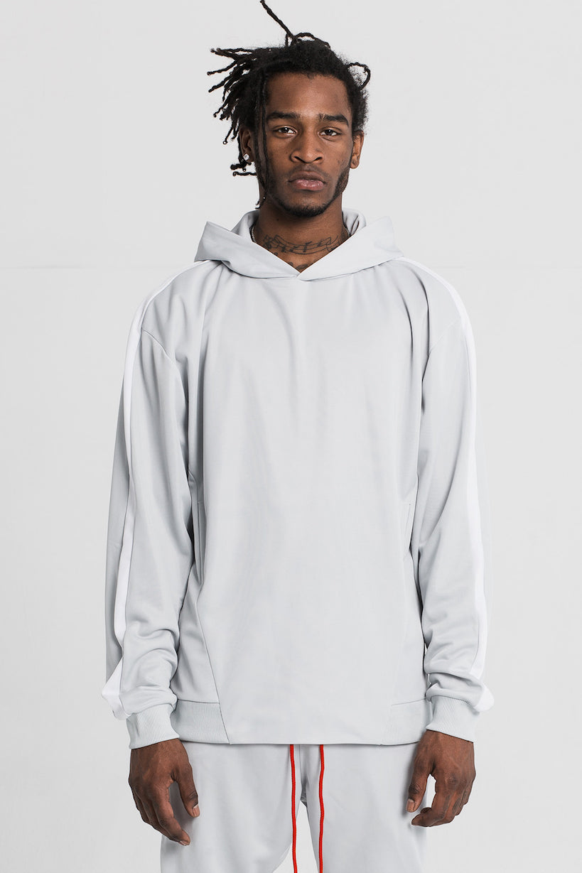 Glacier Grey Technical Track Hood by Only The Blind