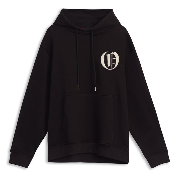 Black Crew Logo Appliqué Sweatshirt