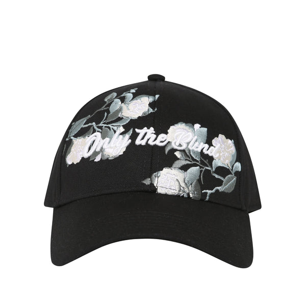 Cotton efflorescent black baseball hat