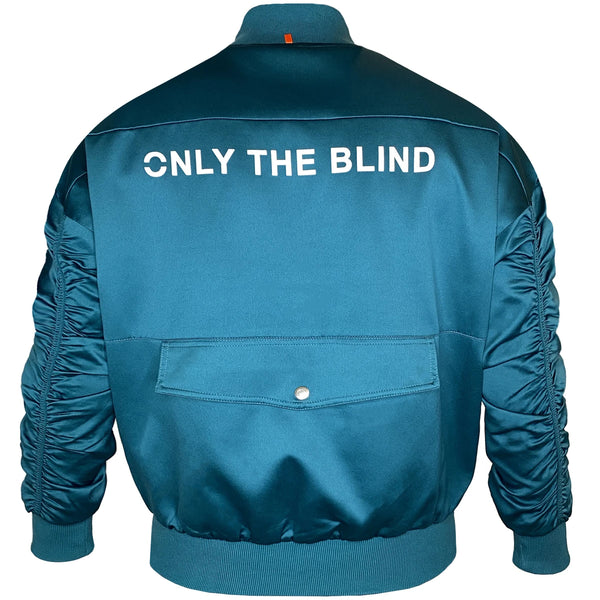 Signature Satin Pine Bomber Jacket