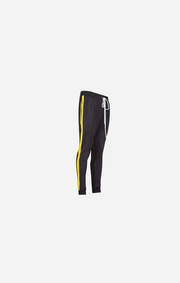 Technical Black & Yellow Poly Pants