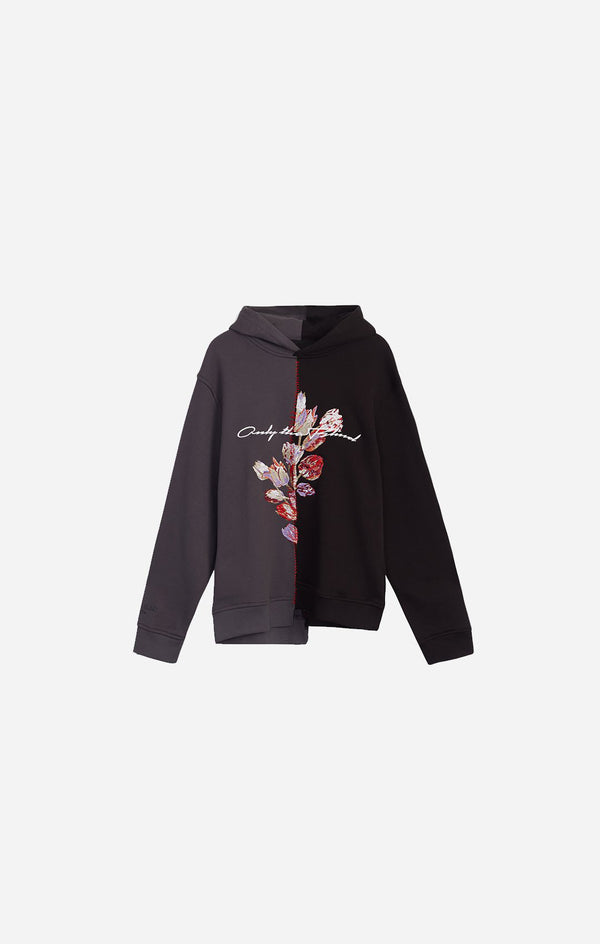 Tulip Split Embroidered Sweatshirt