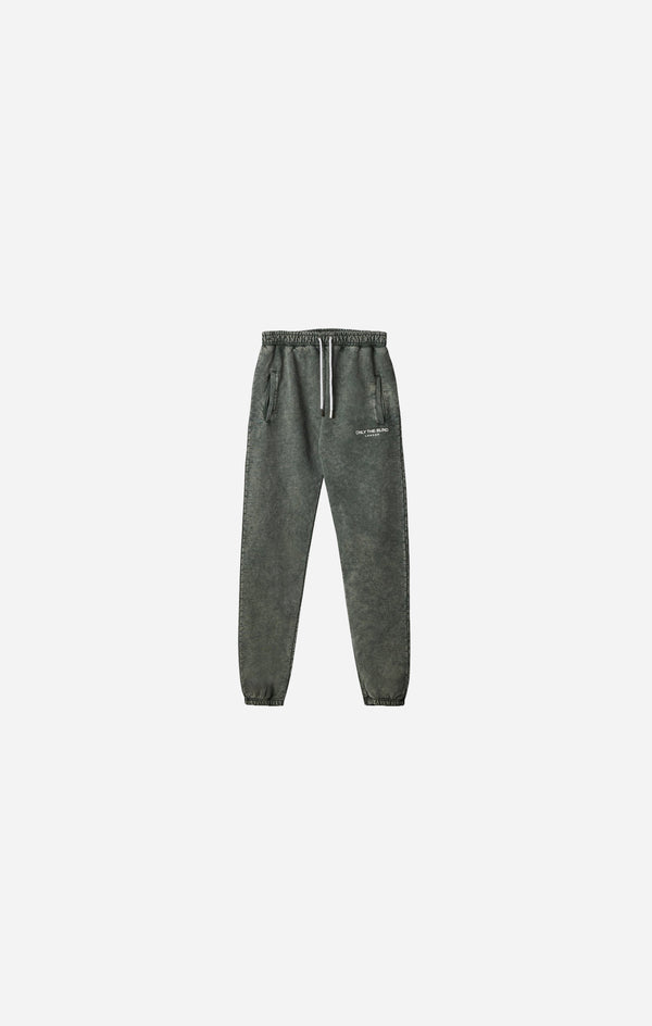 Olive Stonewash Essential Sweatpants