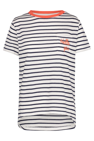 Hello You Navy Stripe T-Shirt