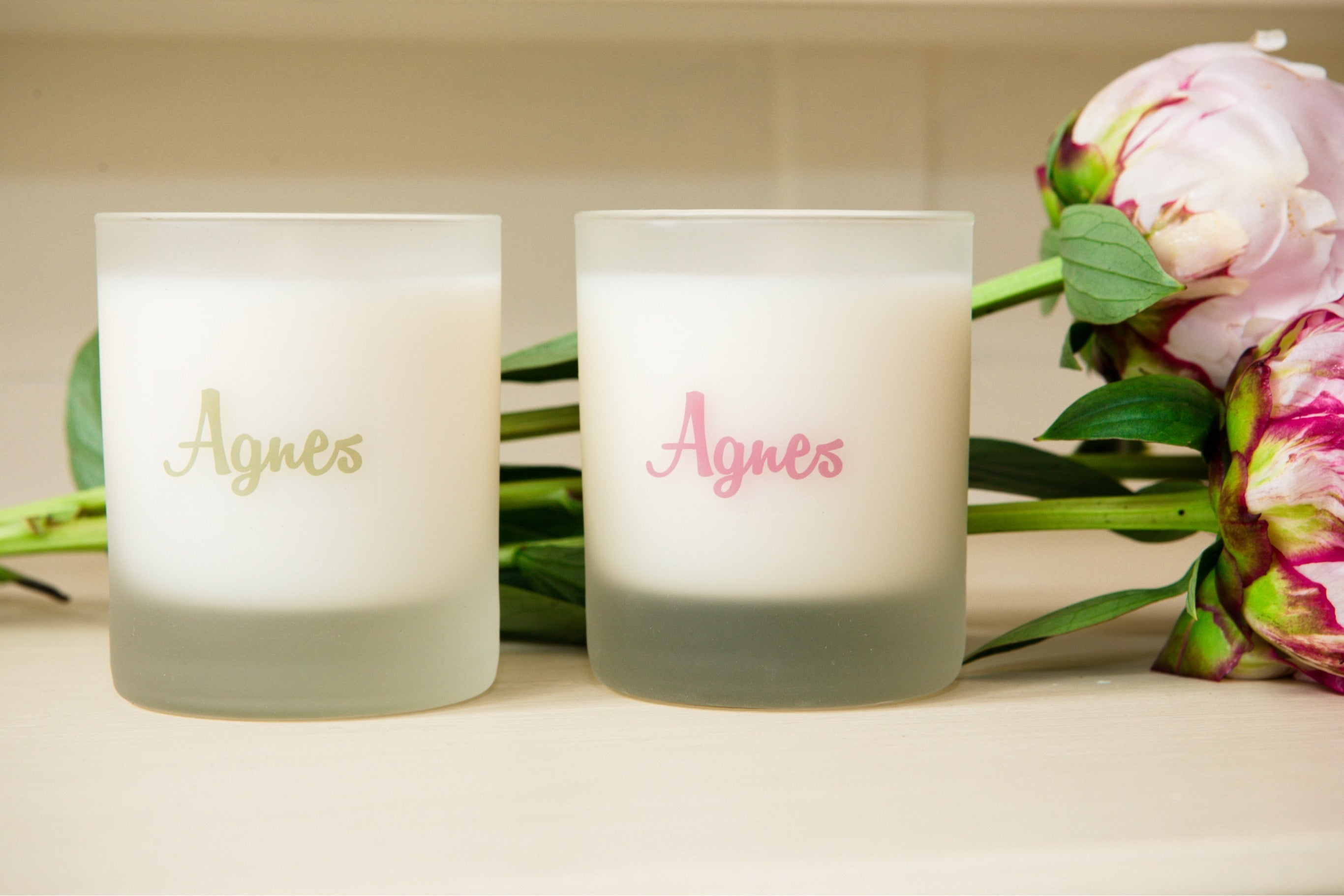 Lavender and Violet essential oil Agnes candle