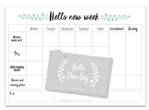 Special bundle - Hello new week planner with zip up pencil case