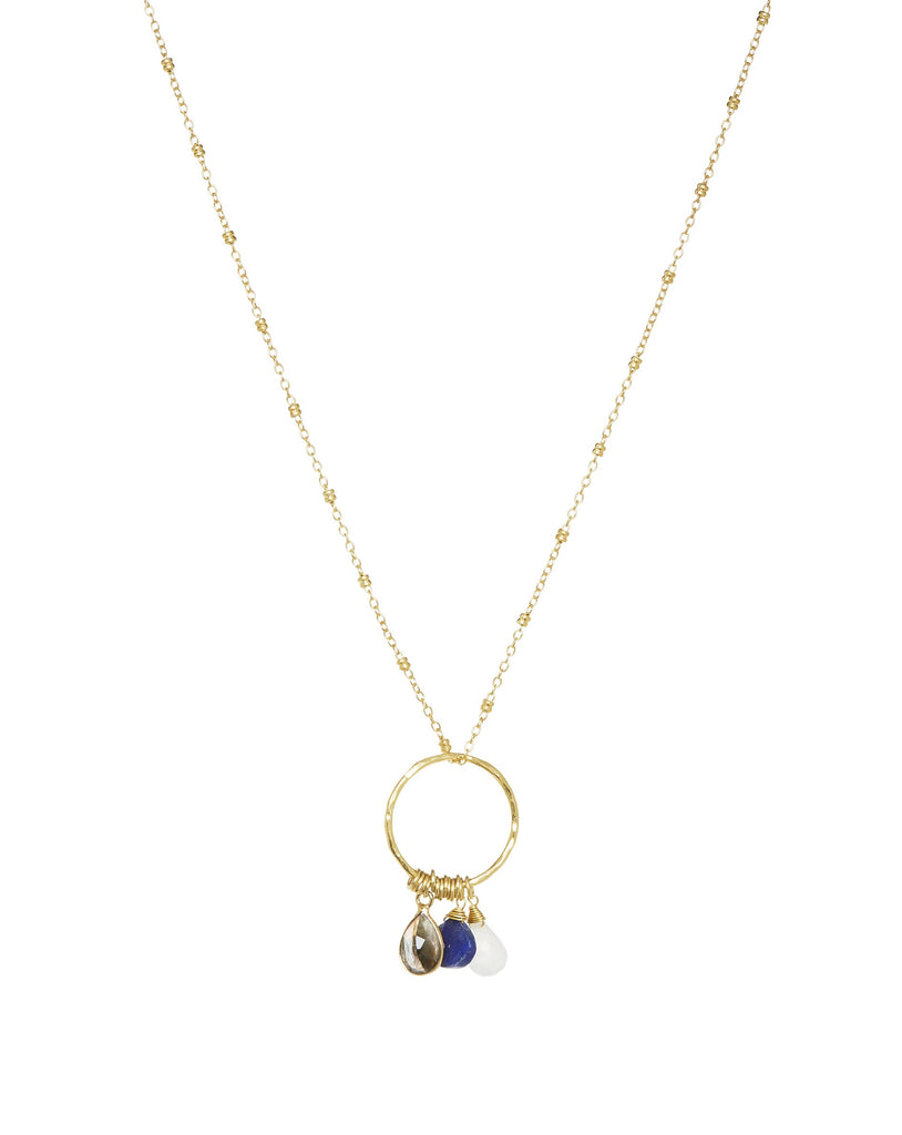 Ring of Colours Necklace Navy