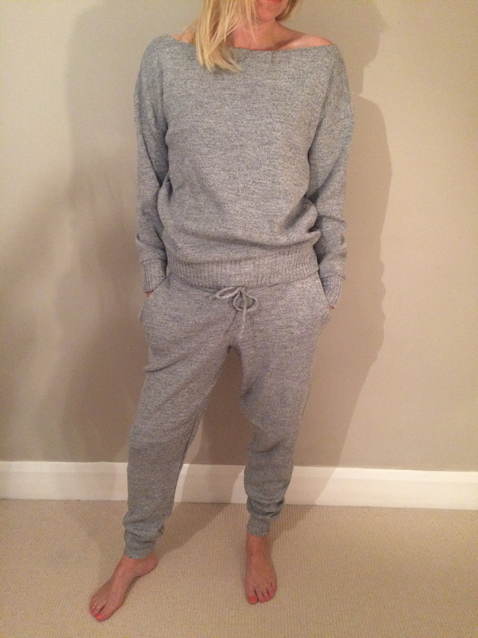 Heavy knitted loungewear set