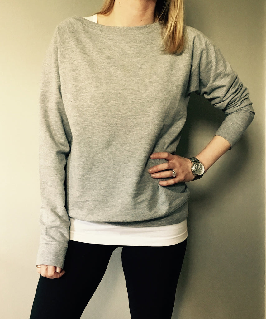 Grey slouchy sweatshirt
