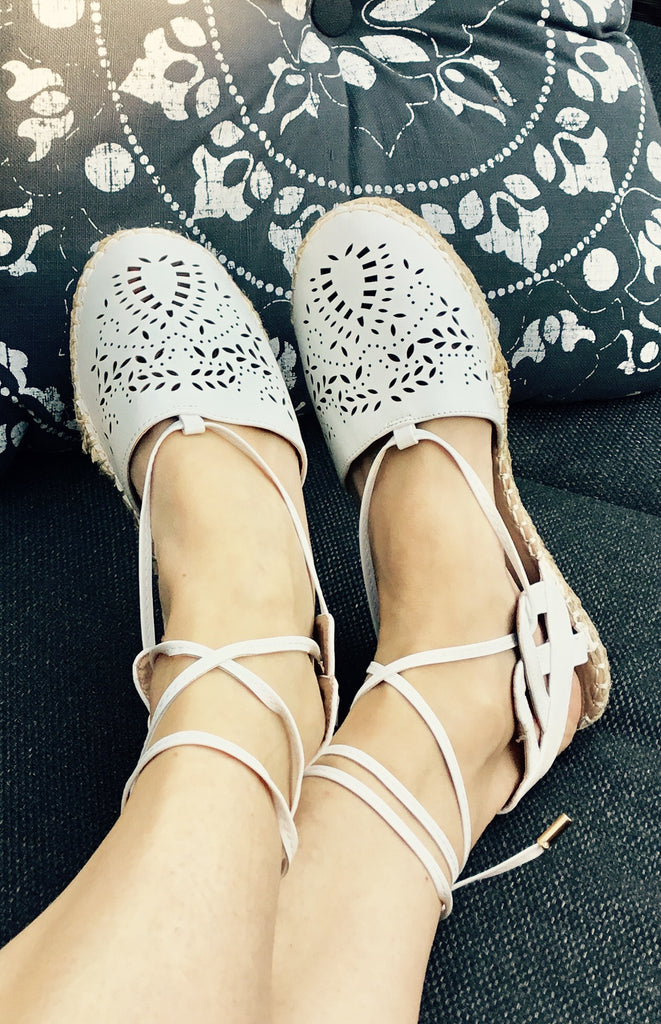 Gorgeous White espadrilles