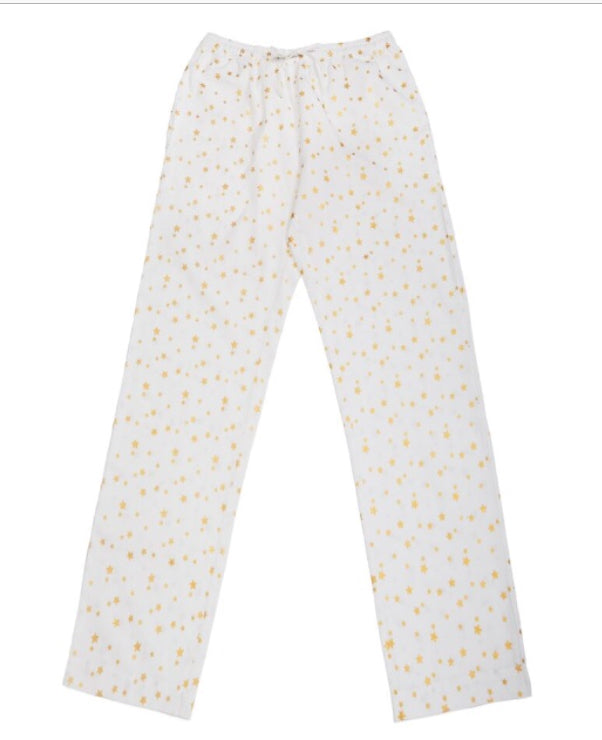 Long Cotton PJ Star Trousers