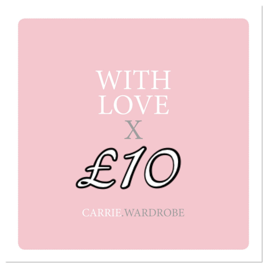 £10 gift voucher for Carrie.Wardrobe Services