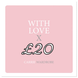 £20 gift voucher for Carrie.Wardrobe Services