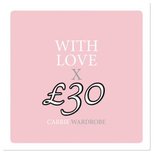 £30 gift voucher for Carrie.Wardrobe Services