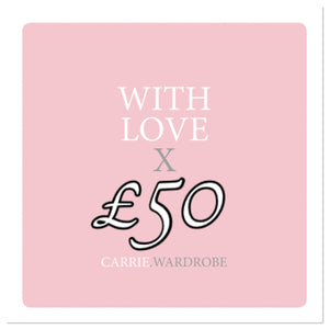 £50 gift voucher for Carrie.Wardrobe Services