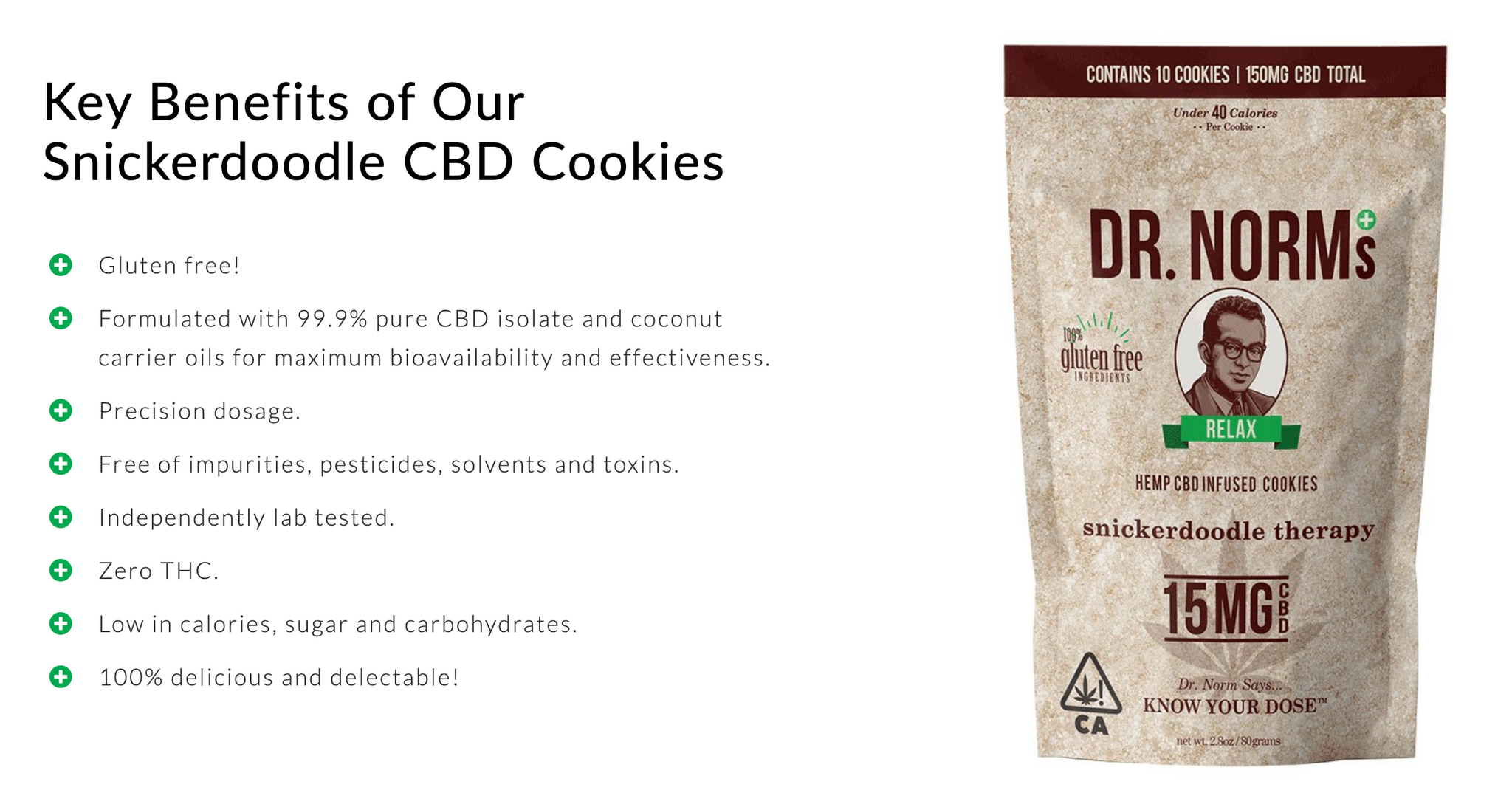 Dr. Norms Snickerdoodle CBD Cookies