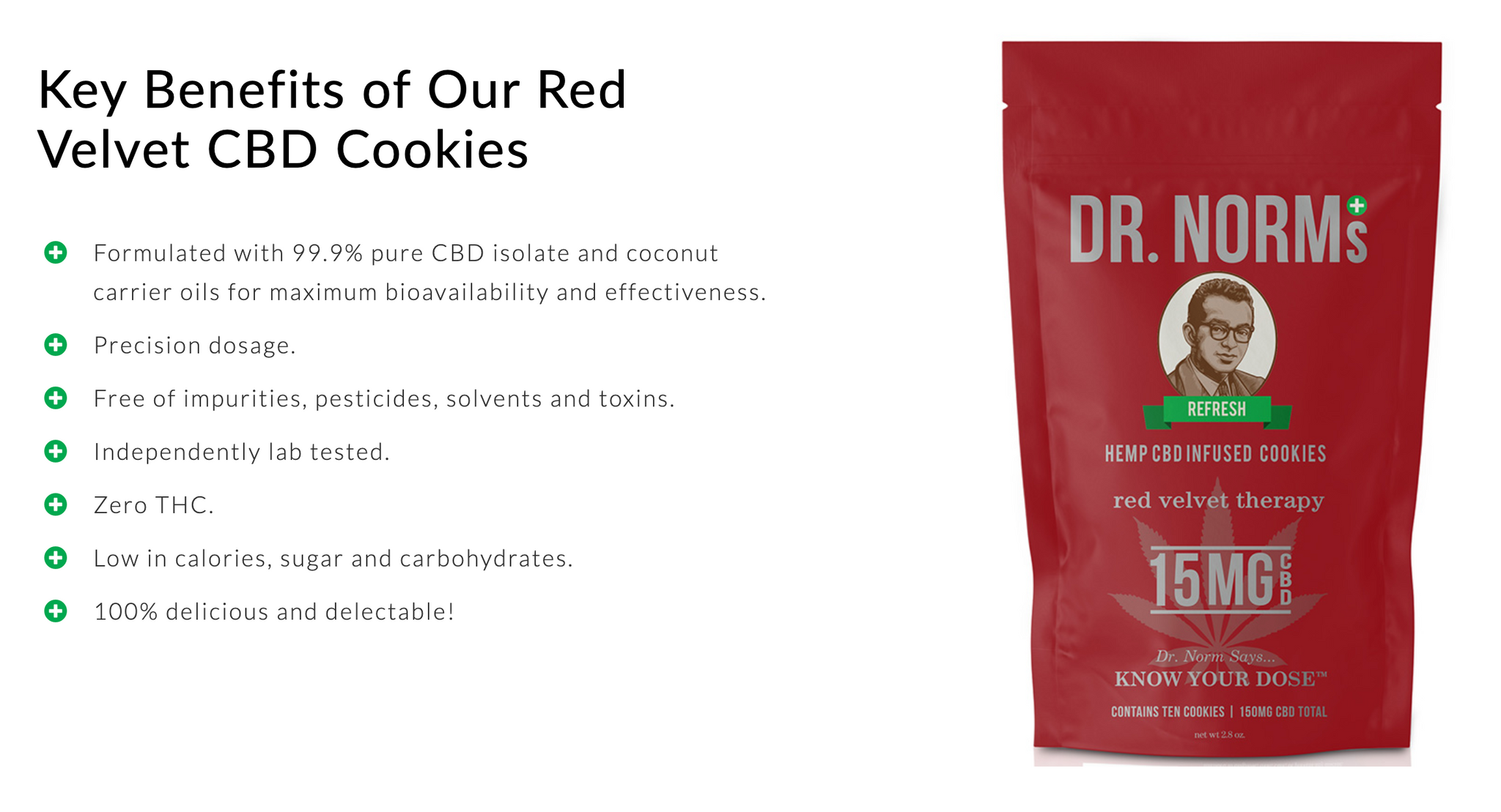 Dr. Norms Red Velvet CBD Cookies