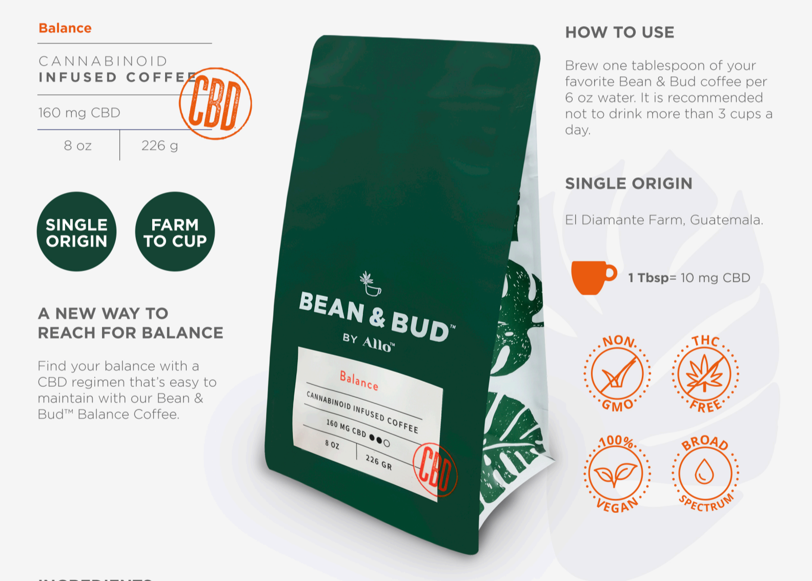 Bean & Bud BALANCE CBD Coffee
