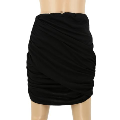 WOMEN'S SEXY HIGH WAISTED FOLDED MINI SKIRT