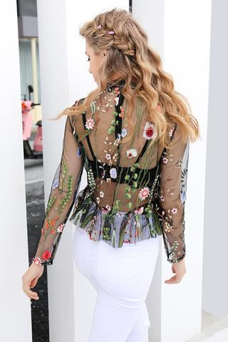 Floral Blouse by Aesthete Lifestyle Discount Fashion Clothing