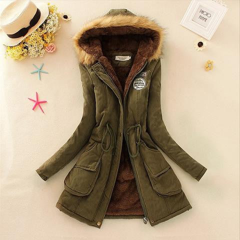 WOMENS FAUX FUR LONG JACKET