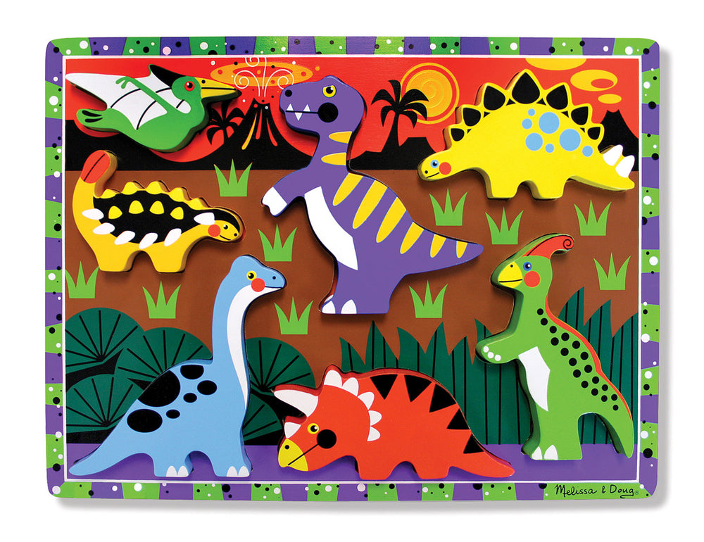 Melissa and Doug 'Dinosaur Chunky Puzzle - 7 Pieces'