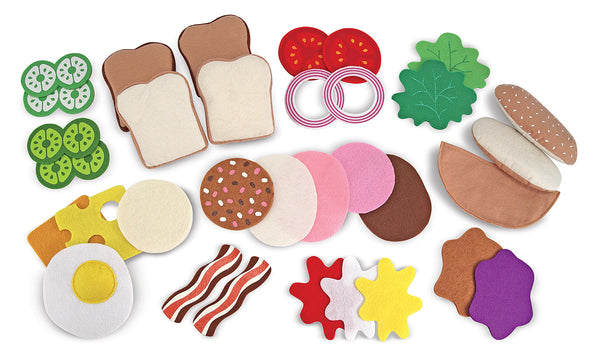 Melissa and Doug Felt Play Food Sandwich Set