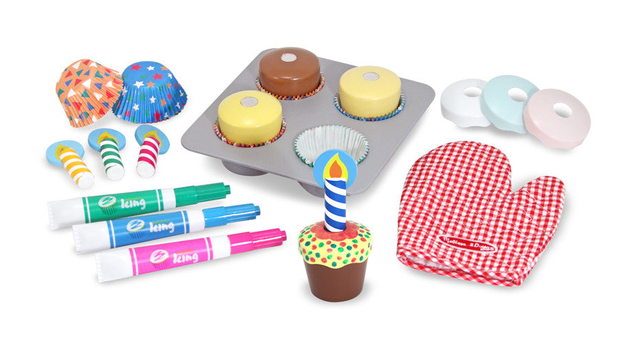 Load image into Gallery viewer, Melissa and Doug - Bake and Decorate Cupcake Set