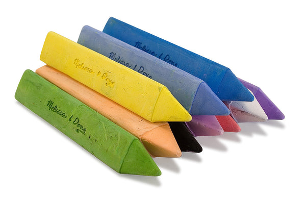 Melissa and Doug '10 Jumbo Triangular Chalk Sticks'