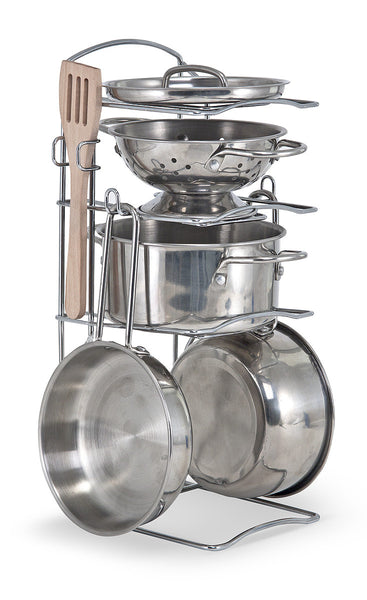 Melissa and Doug 'Stainless Steel Pots and Pans Play Set'