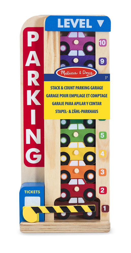 Melissa and Doug ' Wooden Stack and Count Parking Garage'