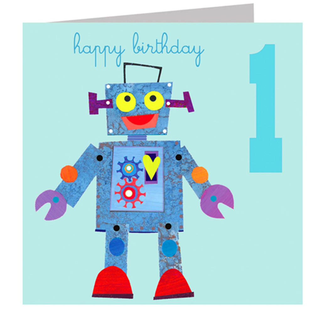 Age 1 - Robot Birthday Card