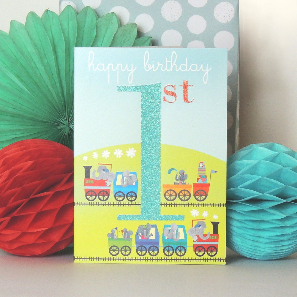 Age One - Train Birthday Card