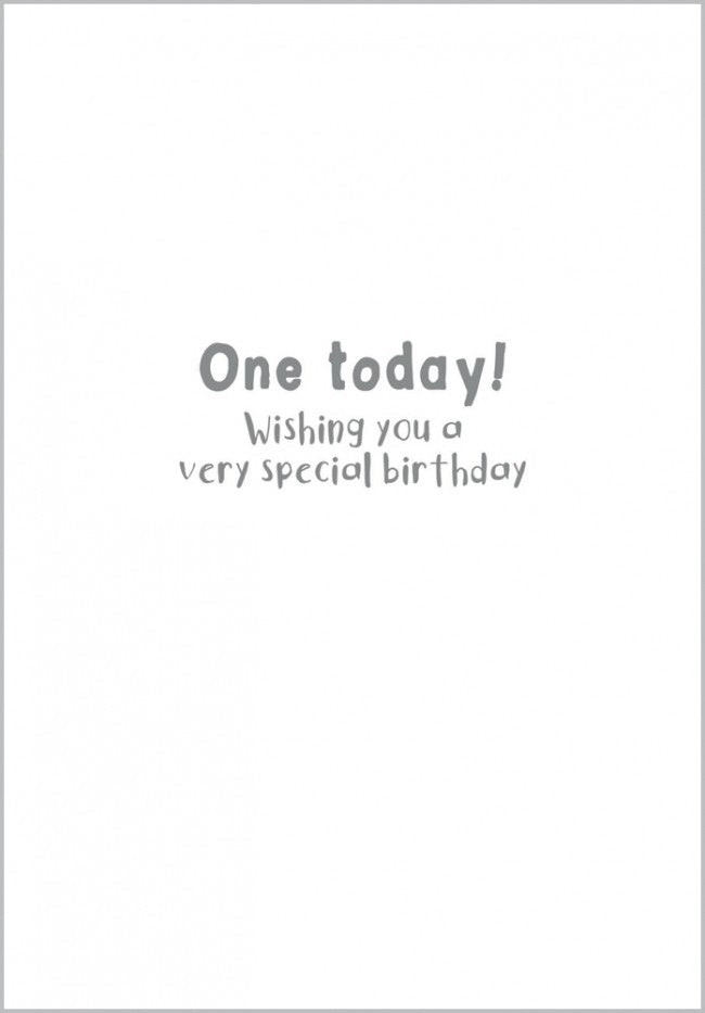 Age 1 - Lion Birthday Card