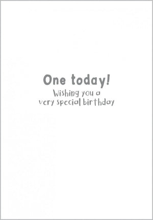 Load image into Gallery viewer, Age 1 - Giraffe Birthday Card