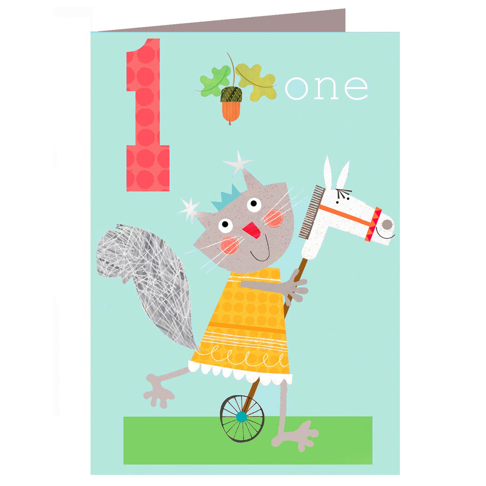 Age One - Squirrel Birthday Card