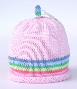 Load image into Gallery viewer, Merry Berries - 'Rainbow Stripe Pink' Hat