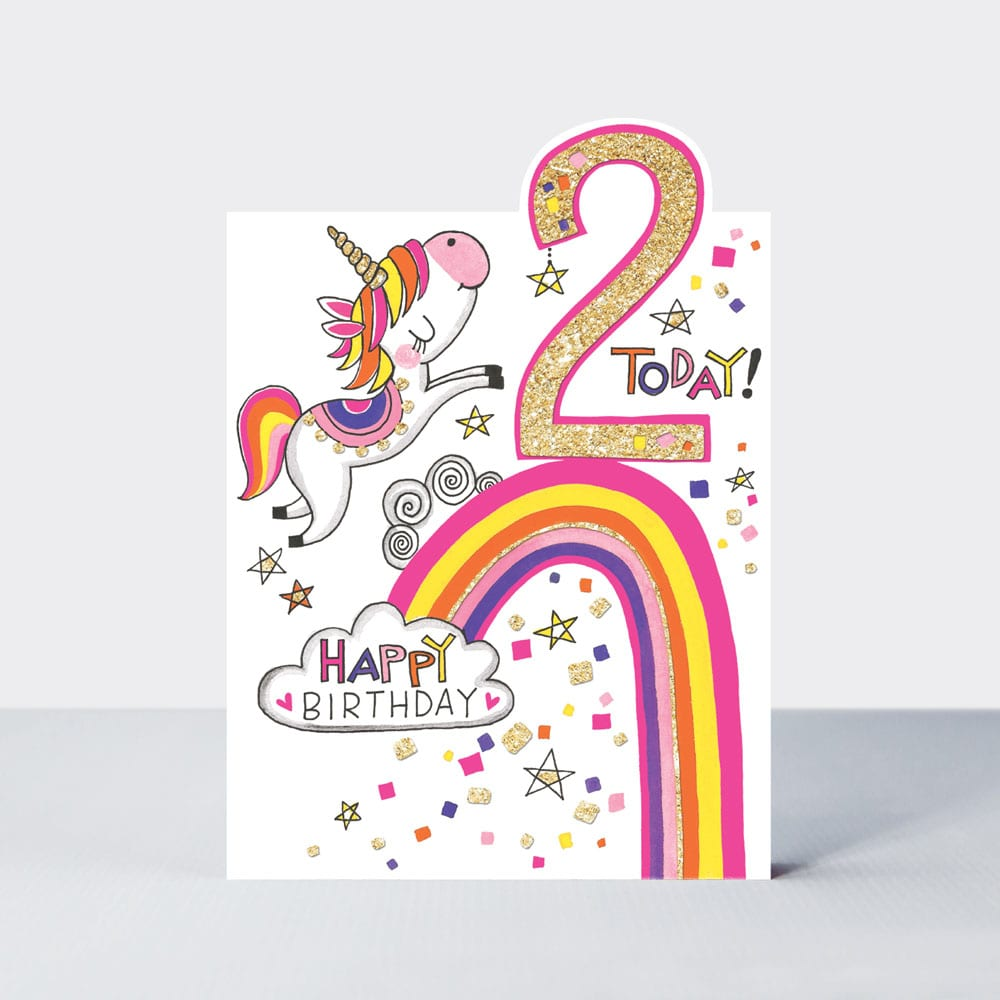 Age 2 - Unicorn Birthday Card