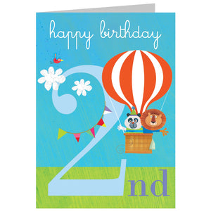Load image into Gallery viewer, Age 2 - In a Ballon Birthday Card