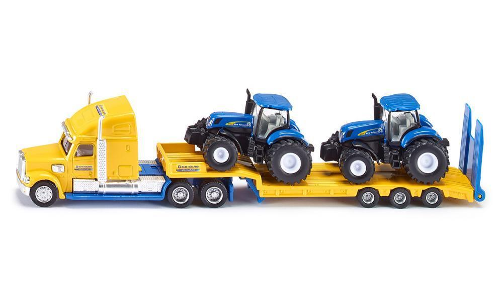 Siku - 1:87 Truck with 2 New Holland tractors 1805