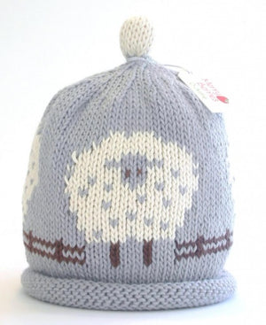 Merry Berries - Grey 'Sheep' Hat