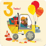 Age 3 - Special Delivery Birthday Card
