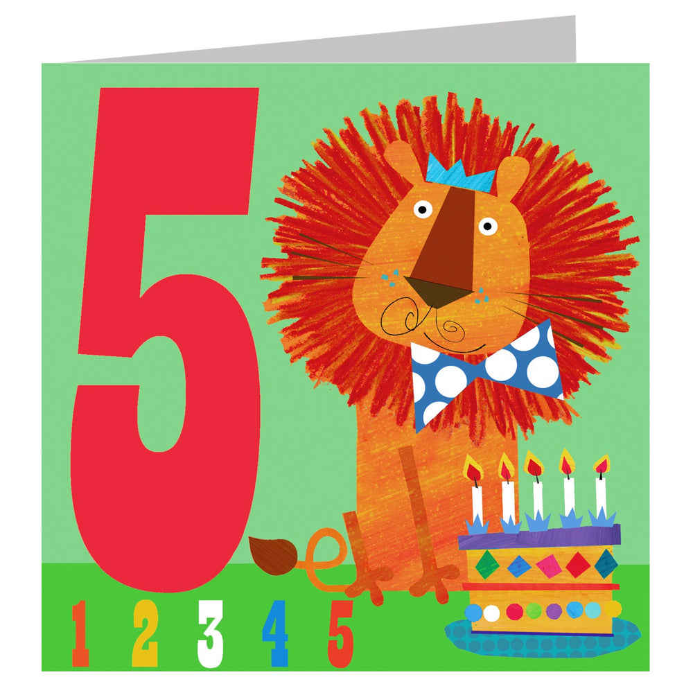 Age 5 - Lion Count Birthday Cards