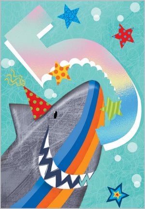 Load image into Gallery viewer, Age 5 - Smiley Shark Card